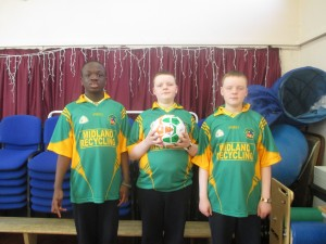 Eoin, Cian & Adam played a big part in our soccer team!